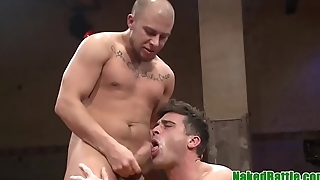 Wrestling hunk punished with cock in aggravation