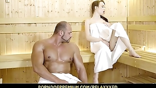 RELAXXXED - Busty Russian babe Angel Rush banged hardcore in the sauna