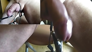 incroyable electro insertion uretre electrode boule zoom grosplan ejac Estim