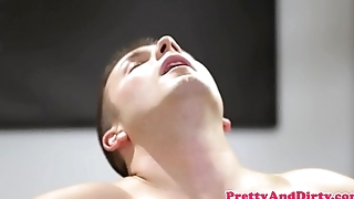 Busty glam beauty plowed exceeding all fours