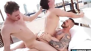 Censorious Threesome Hardfucking at New New Zealand urban area - GayForced.com