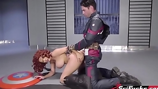 A porn parody be expeditious for Captain America and Black Widow