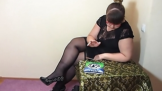 A strict teacher also likes here masturbate, bbw in stockings makes herself fisting.