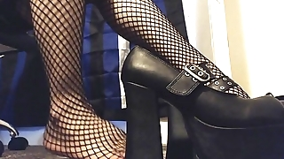 Goth Girl Shows gone her Extremist Platform Heels