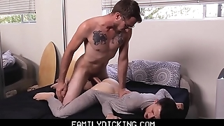 Twink Stepson Over Sleeps And Gets Fucked By Stepdad