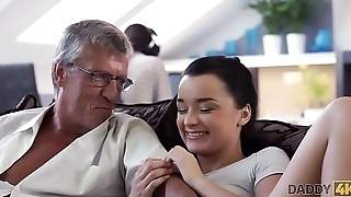 DADDY4K. Hot Erica premier on say no to bf with his dad