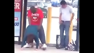 Black guy fuck white slut at be passed on bus stop
