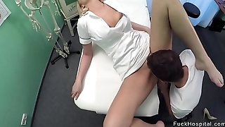 Blonde nurse gets licked outlander patient