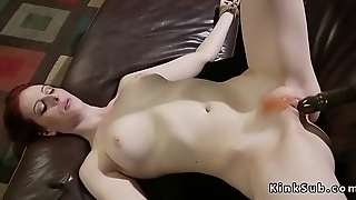 Redhead lesbian in chains anal fucked