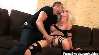 Blonde Amazon Puma Swede Pussy Pounded Close by High Heeled Boots!