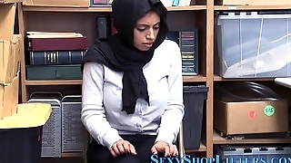Busty ethnic teen thief