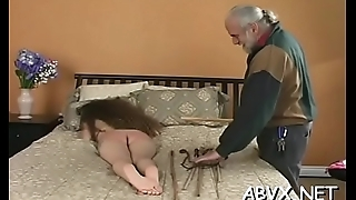 Aged woman extreme servitude in egregious xxx scenes