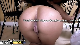 BANGBROS - Latina Maid Eva Saldana Provides Her Client Colleague Worship army