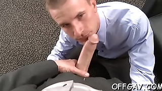 Office dudes love having anal sex together by means of intensive xxx