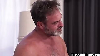 Bearded Mormon gay guys engage in hardcore bore fucking
