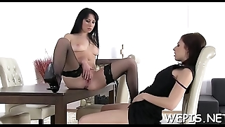 Her twat gets licked after that babe makes some hot pissing
