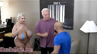 Huge Tit Claudia Marie Tore Up By Two Angry Men