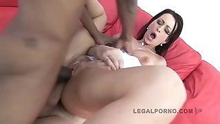 LEGALPORNO FULL SCENE - Simone Peach 3 on 1 Airtight Fucking