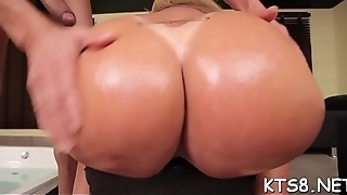Dude gives rub-down the knob hungry shemale some anal pounding