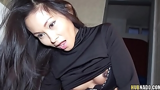 Super close-fisted Thai pussy fucked in a gas station'_s toilet