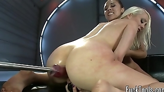 Toy loving babes pleasured until climax