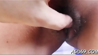 She really likes to squeeze a big jock and to take it in mouth