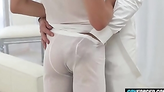 GayForced.com - Gay Daddy Anal Drilled Young Daughter Cum in Ass