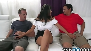 Spizoo - Gabby Quinteros is fucked by two big dicks, big booty &amp_ big soul