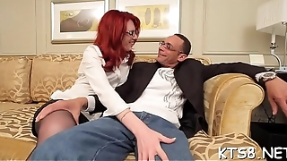 Submissive lady-boy gets pleasure of crazy wazoo pounding