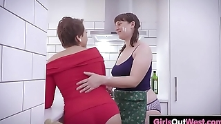 Hairy and shaved lesbian amateurs lick cunts