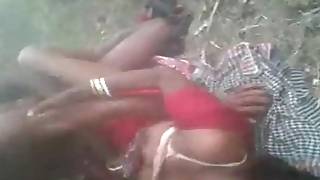 Horny Desi south indian regional cheating unfocused hard fucked threesome jungle by in outdoor fucking sound clear audio