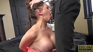 Nasty British subslut gagged for rough cunt smart
